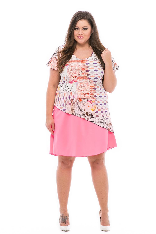 58f68014d1 Könnyű sokfodros ruha molett méretben ...
