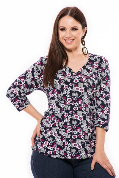 Bavlnená blúzka pre moletky, lacná xxl tunika, blúzka online, moderné jedinečné tričko