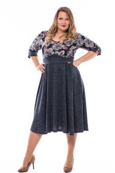 Csinos őszi ruha, magyar gyártás, nagy méretű ruha.