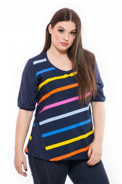 Jarná tunika pre moletky, online, moderné XXL tričko, prírodný materiál, výborná kvalita, dámke tričko.