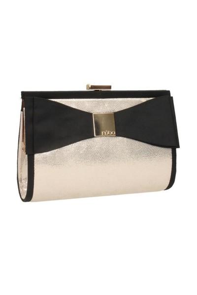 kisméretű női táska bőrből arany