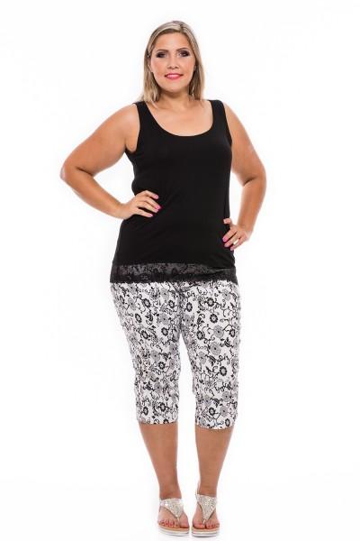 Letné 3/4 nohavice, ľahké nohavice na gumičku, xxl móda, obchod s oblečením