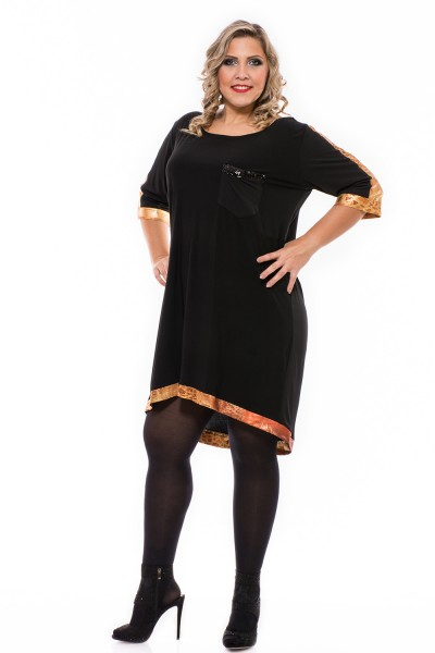 Ruha szilveszterre, alkalmi ruha, kis fekete ruha, magyar gyártás, ruha xxl.