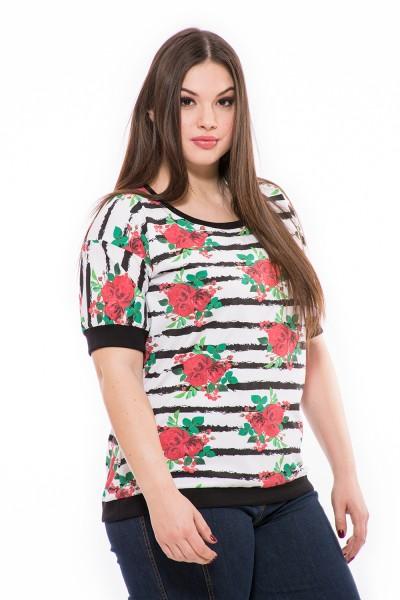 Női felső online, pamut moletti,  tavaszi virágos divatos felső, tunika.