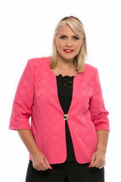rózsaszín ünnepi blézer teltkarcsúaknak alkalmi viselet