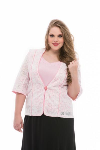 molett alkalmi ruha - rózsaszín blézer