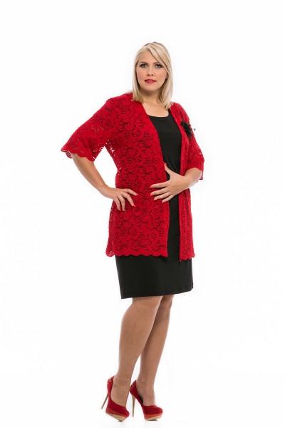 piros csipkés örömanya ruha 2017