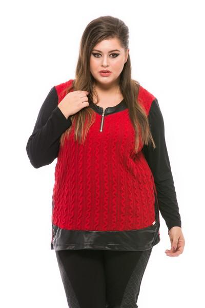 bluza rosie din tricot