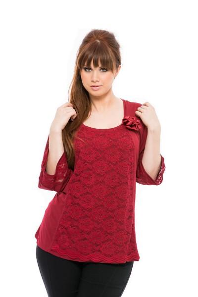 ruhák online - bordó felső