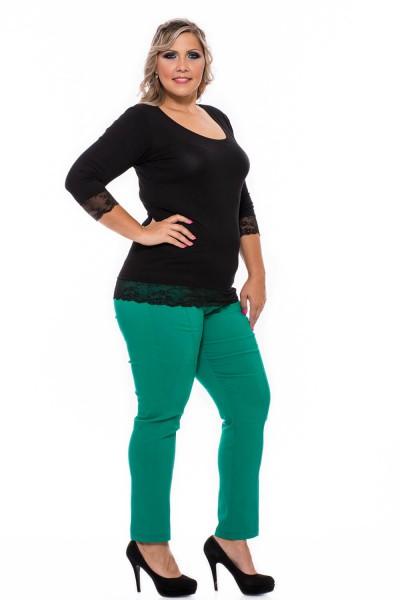 zelené zúžené nohavice pre moletky