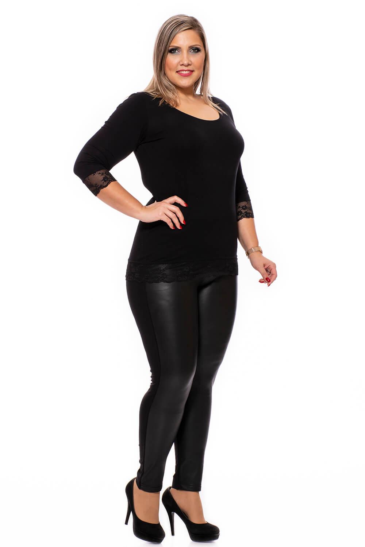 Fekete műbőr nadrág