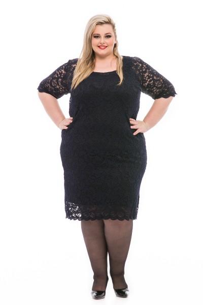 super size čipkované šaty pre moletky