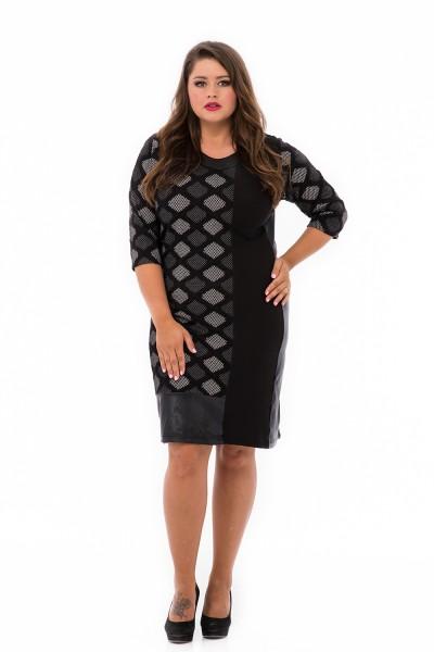 rochie exclusiv cu imprimeu pentru plinute
