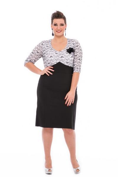 čiernobiele spoločenské šaty pre moletky