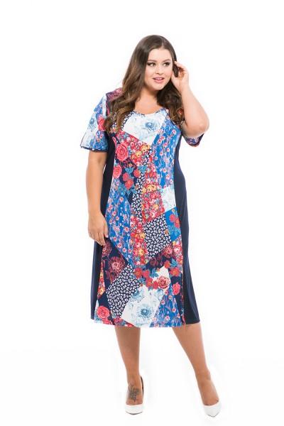 divatos mintás nyári ruha moletteknek