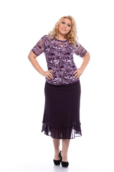 spoločenská sukňa pre plnoštíhle