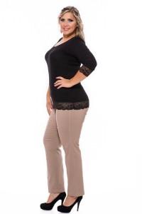 sztreccs női nadrág bézs