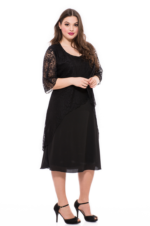Elegáns alkalmi ruha, örömanya ruha, elegáns öltözet, alkalmi muszlin ruha, elegáns ruha nagy méretben.