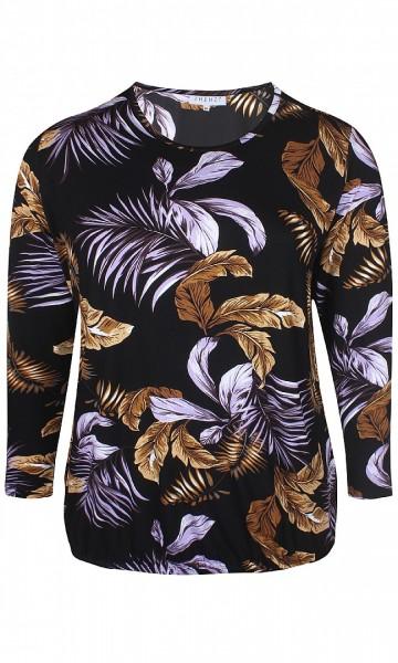 Nagy méretű felső, xxl divat, ruha online, divatos felső, fekete virágos felső.