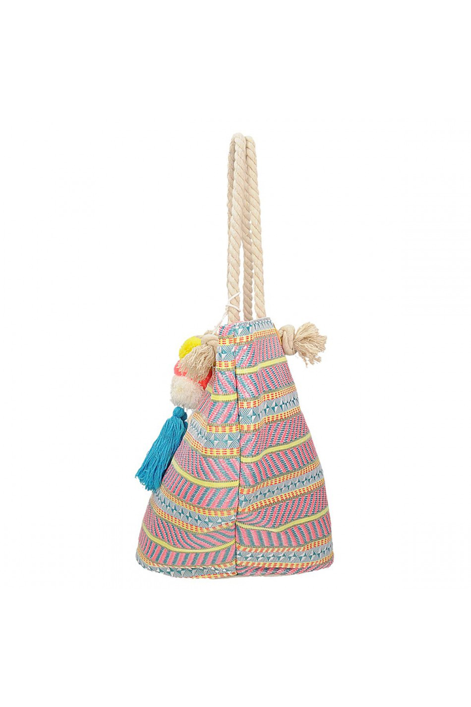 Nyári színes és divatos csíkos táska