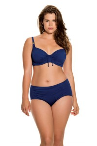 Normál derekú kék bikini alsó