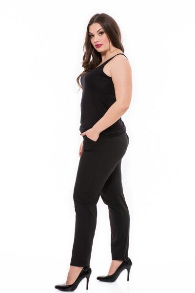 Elegáns, alkalmi csinos szövet nadrág nagy méretben, zsebes, szűk aljú szövet nadrág.
