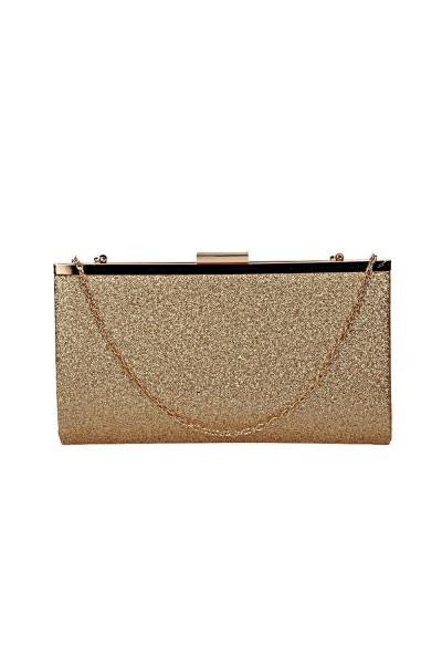 Alkalmi női arany táska, csillogó