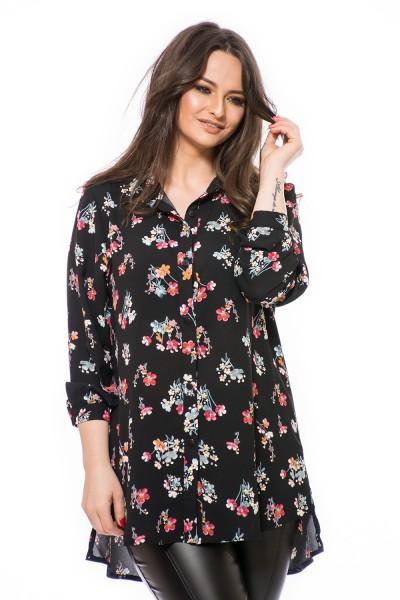 Mintás,divatos ing, ing nagy méretben, hosszított ing, molett divat, ruha webshop.