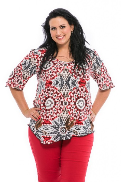 bluza cu imprimeu marimi mari