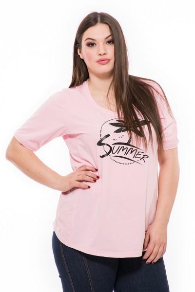 Bavlnené moderné tričko s potlačou, letné tričko pre moletky, tričko s krátkym rukávom