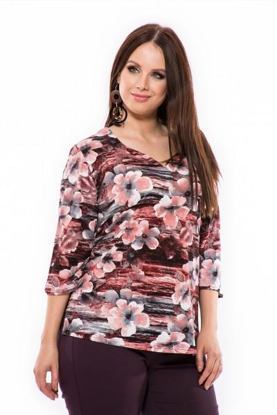 Pamut mintás tunika, xxl tunika, őszi felső, ruha webshop.