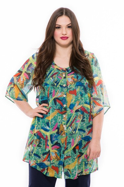 Mušelínová blúzka, farebné letné oblečenie, elegantná móda