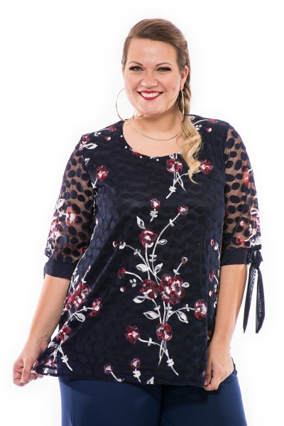 Čipkovaná príležitostná blúzka, xxl móda, maďarská výroba spoločenských šiat, elegantná móda