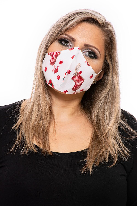 Színes textil szájmaszk